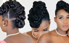 Twisted Faux Hawk Updo Hairstyles