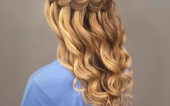 Charming Waves and Curls Prom Hairstyles