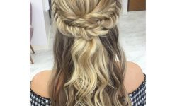 French Braided Halfdo Bridal Hairstyles