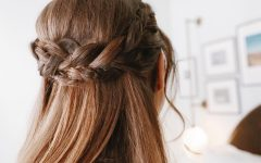 Half Up Half Down Hairstyles with a Fringe