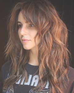 Layered Copper Brown Haircuts For Thick Hair
