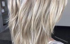 Medium Sliced Ash Blonde Hairstyles