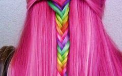 Pastel Rainbow-colored Curls Hairstyles