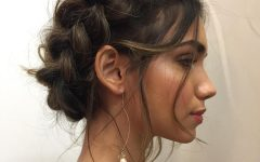 Sexy Low Bun Hairstyles with Side Sweep