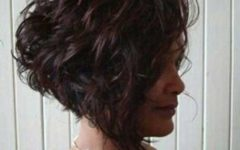 Short Curly Inverted Bob Hairstyles