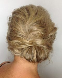 Tousled Asymmetrical Updo Wedding Hairstyles