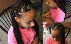 Braided Hairstyle with Jumbo French Braid