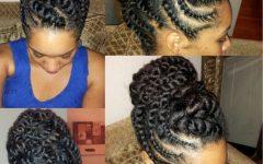 African American Flat Twist Updo Hairstyles