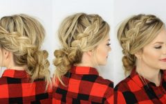 Messy Ponytail Hairstyles with a Dutch Braid