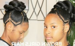 Updo Cornrows Hairstyles
