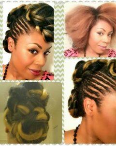 Kanekalon Hair Updo Hairstyles