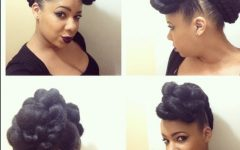 Natural Hair Updo Hairstyles with Kanekalon Hair