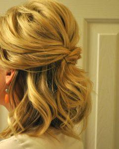 Wedding Half Up Medium Hairstyles