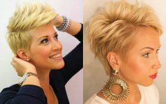 Trendy Pixie Haircuts with Vibrant Highlights