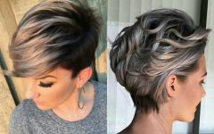 Silver and Brown Pixie Hairstyles
