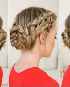 French Braids Into Braided Buns