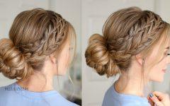 Plaited Low Bun Braided Hairstyles