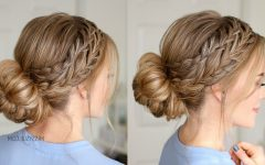 French Braid Low Chignon Hairstyles