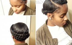 No-pin Halo Braided Hairstyles