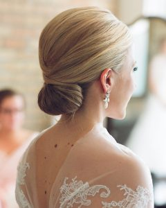 Sleek Low Bun Rosy Outlook Wedding Updos