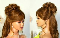 Curls Up Half Down Wedding Hairstyles