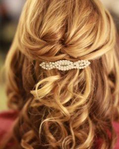 Half Up Medium Length Wedding Hairstyles