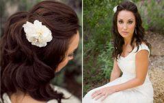 Medium Length Straight Hair Wedding Hairstyles