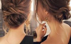 Brushed Back Bun Bridal Hairstyles