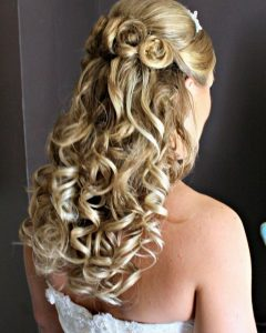 Down Medium Hair Wedding Hairstyles