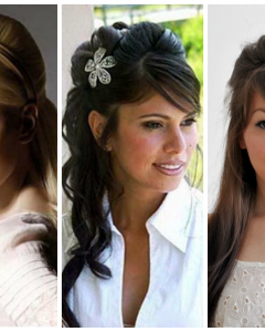 Half Up Half Down With Fringe Wedding Hairstyles