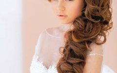 Long Curly Bridal Hairstyles with a Tiara