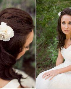 Wedding Hairstyles For Medium Length Straight Hair