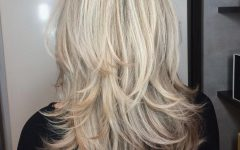 Blonde Textured Haircuts with Angled Layers