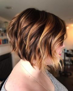 Chestnut Brown Choppy Lob Hairstyles