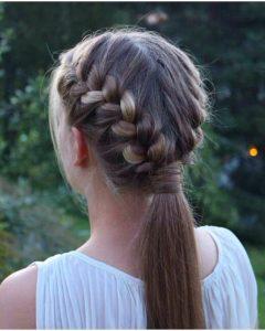 Classy 2-In-1 Ponytail Braid Hairstyles