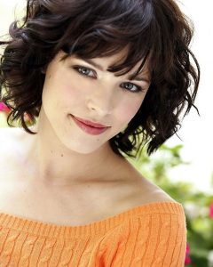 Curly Medium Hairstyles With Bangs