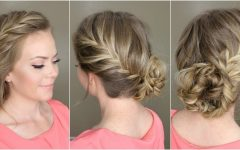 French Braid Crown and Bun Updo