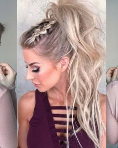 Glam Ponytail Hairstyles