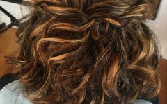 Half Up Curly Hairstyles with Highlights