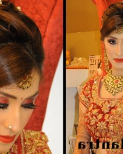 Indian Wedding Reception Hairstyles For Long Hair