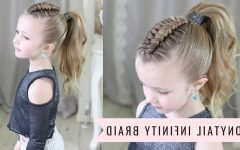 Infinity Braid Ponytail Hairstyles