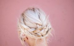Light Pink Semi-crown Braid Hairstyles