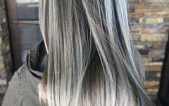 Loose Layers Hairstyles With Silver Highlights