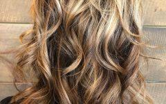 Medium Wavy Bronde Shag Haircuts