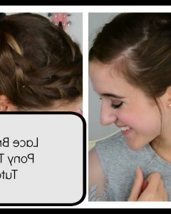 Messy Pony Hairstyles With Lace Braid