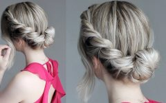 Messy Rope Braid Updo Hairstyles