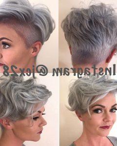 Sassy Silver Pixie Blonde Hairstyles