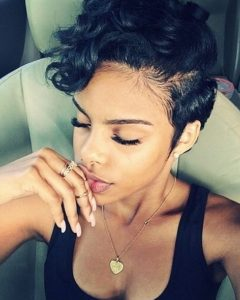 Short Black Pixie Hairstyles for Curly Hair