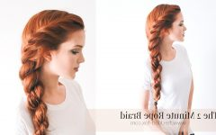 Side Rope Braid Hairstyles for Long Hair