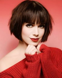 Simple Bob Hairstyles With Shaped Bangs